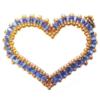 Kettenanhänger - Mon Coeur in Blau und Gold
