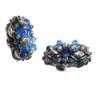 Kettenanhänger in Blau (seitlich)