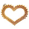 Kettenanhänger - Mon Coeur in Blau und Gold (Rükseite)