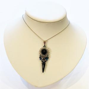 Kettenanhänger - Love par Puca in Silber und Hematite