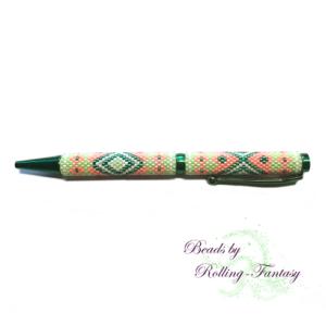 exklusiver Kugelschreiber in Grün und Orange