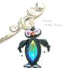 Lesezeichen mit Pinguin (Detailfoto)