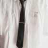 Krawattennadel Silber-Blau (getragen)